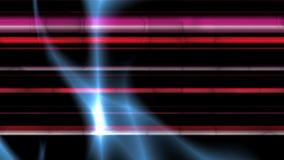 Luzes fluidas com linhas roxas ilustração do vetor