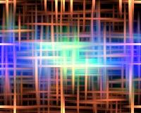 Luzes fosforescentes vermelhas azuis dos contrastes, textura, fundo abstrato ilustração royalty free