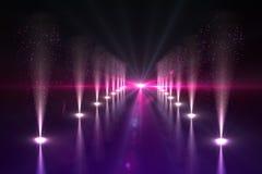 Luzes frescas da vida noturno Imagem de Stock