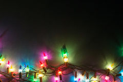 Luzes Garland Colorful Background Fotografia de Stock