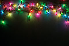 Luzes Garland Colorful Background Foto de Stock Royalty Free