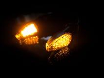 Luzes indicadoras alaranjadas Imagem de Stock Royalty Free