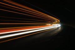 Luzes interessantes e abstratas em alaranjado, em vermelho, em amarelo e em branco Fotos de Stock Royalty Free
