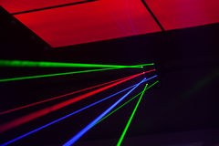 Luzes laser, luzes na fase Fotografia de Stock Royalty Free