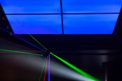 Luzes laser, luzes na fase Foto de Stock Royalty Free