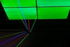 Luzes laser, luzes na fase Imagens de Stock