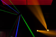 Luzes laser, luzes na fase Imagem de Stock Royalty Free
