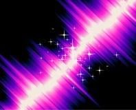 Luzes mágicas com inclinação colorido ilustração do vetor