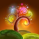 Luzes mágicas da árvore ilustração royalty free