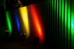 Luzes mágicas no parque de Gruga, Alemanha Fotografia de Stock