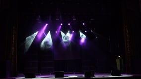 luzes Multi-coloridas da fase, mostra clara no concerto filme
