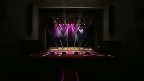 luzes Multi-coloridas da fase, mostra clara no concerto vídeos de arquivo