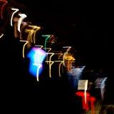 Luzes na forma dos sevens Foto de Stock Royalty Free
