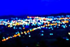 Luzes na noite Fotografia de Stock Royalty Free