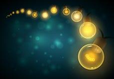 Luzes na noite ilustração do vetor