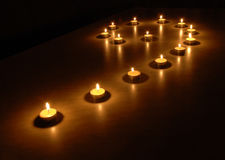 Luzes na obscuridade Fotografia de Stock Royalty Free