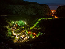 Luzes na vila Fotos de Stock