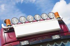 Luzes no caminhão Fotos de Stock Royalty Free