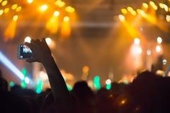 Luzes no concerto Imagens de Stock Royalty Free