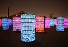Luzes no deserto Imagem de Stock Royalty Free