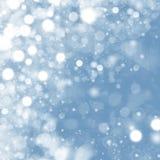 Luzes no fundo azul. fotografia de stock royalty free