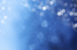 Luzes no fundo azul. fotografia de stock