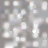 Luzes no fundo cinzento Foto de Stock