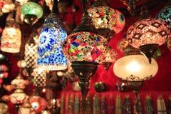 Luzes no mercado de Istambul Fotografia de Stock Royalty Free
