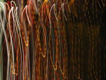 Luzes no movimento Fotografia de Stock Royalty Free