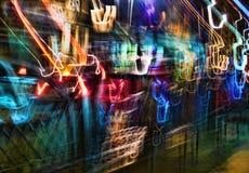 Luzes no movimento Imagem de Stock