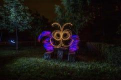 Luzes no parque imagens de stock royalty free