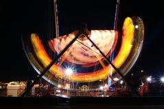 Luzes no parque de diversões 1 Foto de Stock Royalty Free