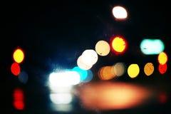 Luzes obscuras coloridas Fotografia de Stock