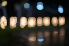 Luzes obscuras na rua Foto de Stock
