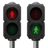 Luzes pedestres Imagem de Stock