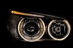 Luzes de um carro imagem de stock
