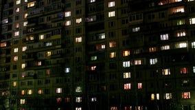 Luzes que cintilam no lapso de tempo das janelas