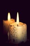 Luzes românticas da vela Foto de Stock