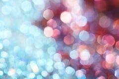 Luzes suaves abstratas elegantes festivas cor-de-rosa escuras do fundo fotografia de stock