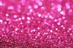 Luzes suaves abstratas elegantes festivas cor-de-rosa escuras do fundo Foto de Stock Royalty Free