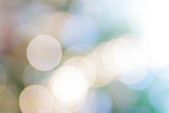Luzes suaves de Bokeh Fotografia de Stock