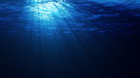 Luzes subaquáticas ilustração royalty free