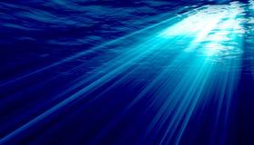 Luzes subaquáticas ilustração do vetor