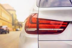 Luzes traseiras de um carro Foto de Stock Royalty Free