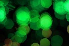 Luzes verdes Imagens de Stock Royalty Free