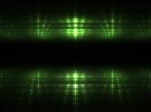 Luzes verdes Fotografia de Stock