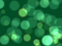 Luzes verdes Foto de Stock Royalty Free