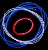 Luzes vermelhas, brancas, e azuis Foto de Stock Royalty Free