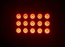 Luzes vermelhas do estádio em uma noite Imagem de Stock