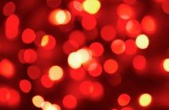 Luzes vermelhas do feriado fotos de stock